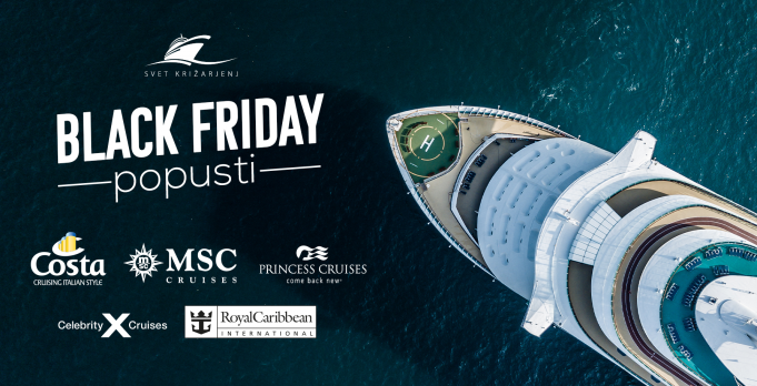 Black Friday - do 30 % popusta na križarjenja z ladjarjem Costa, MSC, Royal Caribbean International, Celebrirty Cruises in Princess Cruises