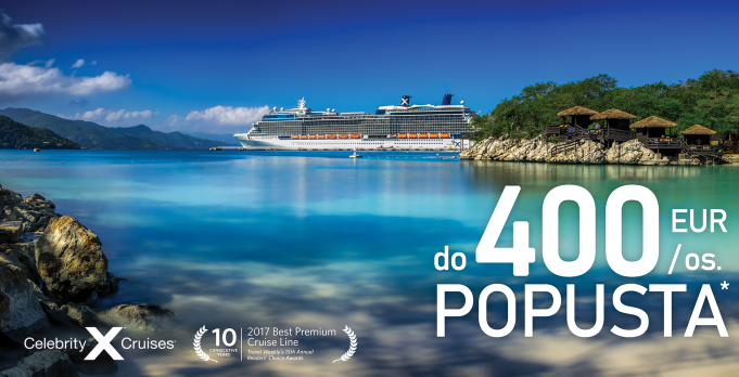 Celebrity Cruises promocija - prihranite do 400 EUR na osebo!