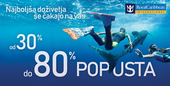 Royal Caribbean popust od 30% do 80%!
